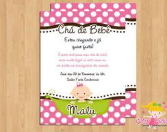 Convite Ch� de Beb� Ervilha Menina