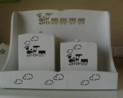 Kit de Higiene com 2 potes Trenzinho