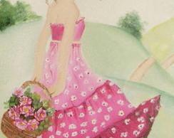 Pintura em tela para quarto menina