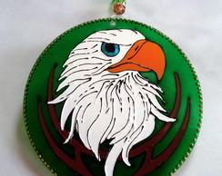 Mandala �guia fundo verde 20cm