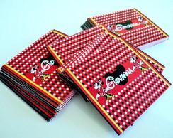 Adesivo Para Chocolate Baton Minnie
