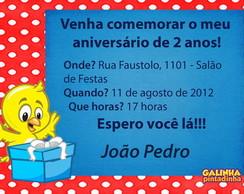 Convite Galinha Pintadinha - Pintinho