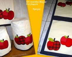 Kit cozinha Ma�as Patchwork 4pc