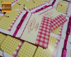 Convite para Ch� de Beb� Pink