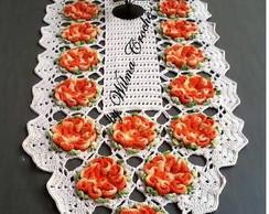 Caminho de mesa flor cam�lia