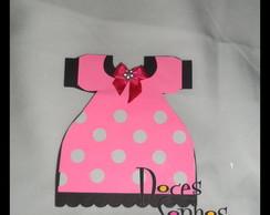 """Convite vestido """"Minnie"""""""