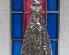 NS. Aparecida  Vitral Metal 4cms