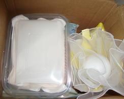 Buqu� de marshmallows amarelo gema p/