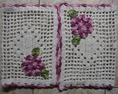 Passadeira de croch� com flores