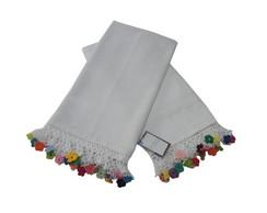 Pano de prato e toalha com croch�