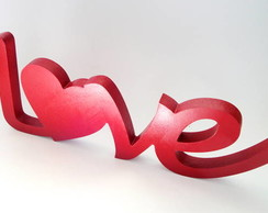 Palavra Love 05 Vermelho Em Mdf