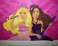 Painel barbie princesa e popstar