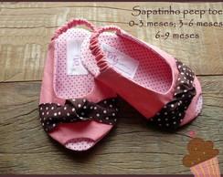 Sapatinho peep toe rosa