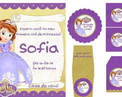Papelaria personalizada Princesa Sofia