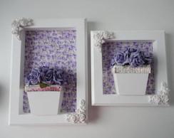 Conjunto Quadro Flores Lilas-VENDIDO