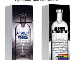 Envelopamento Absolut com A�o Escovado