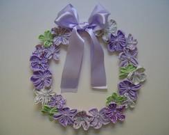 (MA 0065) Guirlanda flores tecido