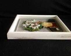 Quadro em arte francesa flores