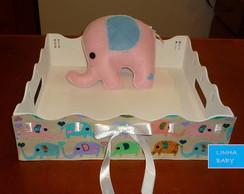 Bandeja Baby + Elefantinho Rosa