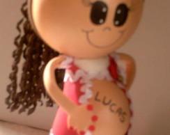 Boneca Gr�vida em EVA
