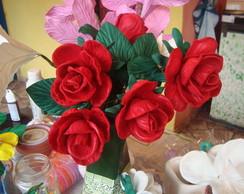 flores feita de eva