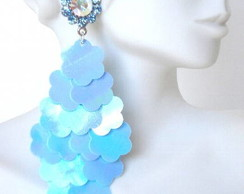 Cascata de Paet�s Azul Furta-cor