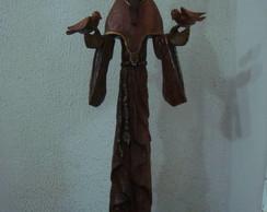 S Fransisco estilizado de madeira