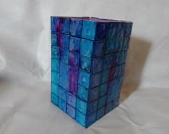 Vaso em mosaico, estilo vitral