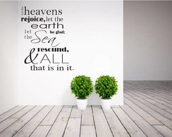 Adesivo Salmo 96:11 90cm x 75cm