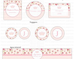 Kit digital Princesa Floral Rosa