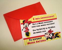 Convite Minie Vermelha
