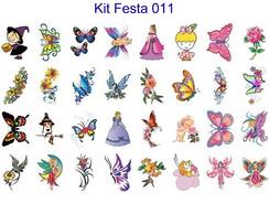 Tatuagem Tempor�ria - Kit Festa 11 ao 15