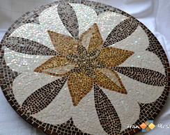 """Mosaico Prato Girat�rio """"Ros�cea"""""""