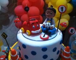 topo de bolo festa de menino