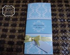 Convite Proven�al Azul com amarelo