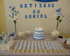 Decora��o Batizado Azul e branco