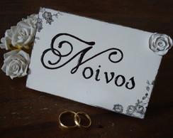 Placa para mesa - Noivos II