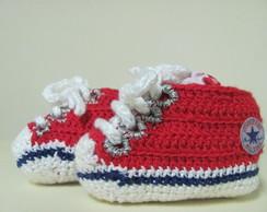 Sapatinho/T�nis de croch� para beb�