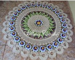 Tapete de Croch� com Flor de Maracuj�