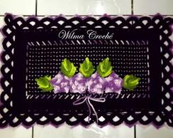 Tapete de croch� preto e lil�s