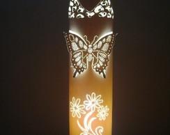 Lumin�ria em PVC Paix�o Floral