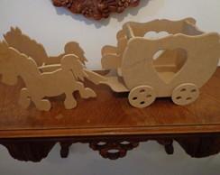 Carruagem Com Cavalos Pintada