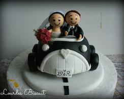 Topo de bolo - Casamento da D�bora