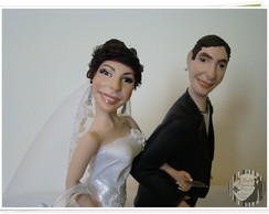 Casal de noivinhos plaquinhas