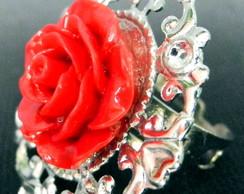 Anel Rosa Vermelha