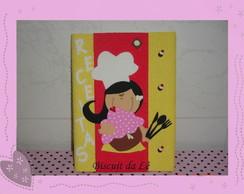 Caderno de Receitas decorado atoalhado