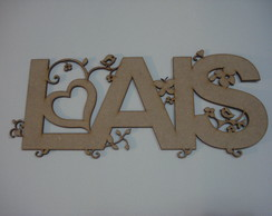 Nome com letras decoradas mdf 3mm