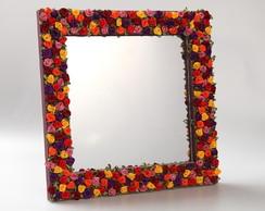 Espelho Floral M�dio