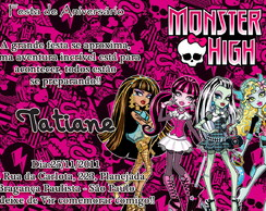 Convite - Monster High
