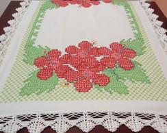 Toalha De Mesa Flores Vermelhas